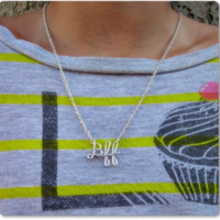 Bff (Best friends forever) Wire Word Name Pendant Necklaces (3)