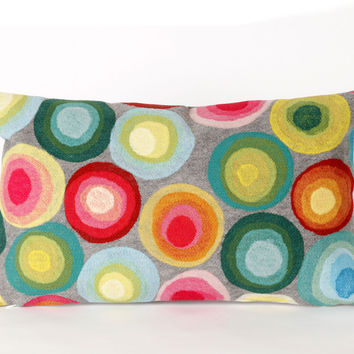 """Puddle Dot Multi 12"""" x 20"""" Indoor Outdoor Pillow"""