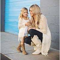 2pc Mother Daughter Matching Knit Cardigan