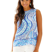 Iona Sleeveless Silk Shell - Lilly Pulitzer