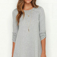 Symphony Light Grey Swing Dress