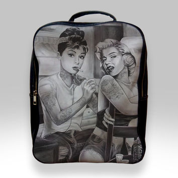Backpack for Student - Audrey Hepburn and Marilyn Monroe Bags