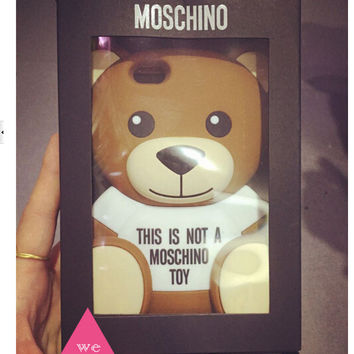 MOSCHINO TEDDY BEAR SILICONE IPHONE 6/5S/5 PHONE CASE