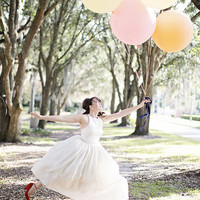 "Blush, Ivory, Pastel Pink or White 36"" Round Latex Balloon Latex Balloons Pastel Balloons"