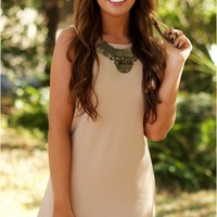 Textured Tank Dress Taupe