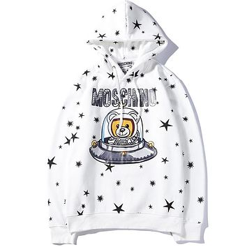 Moschino Women or Men Fashion Casual Loose Top Sweater Pullover Hoodie