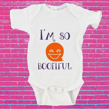 I'm So Bootiful Baby Ghost Halloween Gerber Onesuit ®