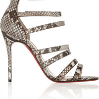 Christian Louboutin - Mariniere 100 glossed-python sandals