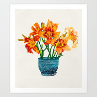 Lily Blossom Art Print by 83oranges