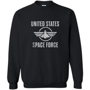 Space Force  USA Space Force  Printed Crewneck Pullover Sweatshirt