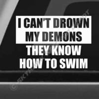 Drown My Demon Bumper Sticker Vinyl Decal Famous Quote Car Truck Macbook Sticker