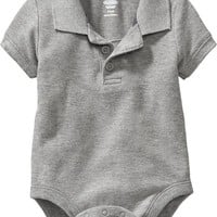 Old Navy Pique Polo Bodysuits For Baby