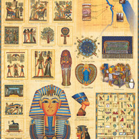 Ancient Egyptians Education Poster 24x36