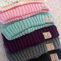 Childrens CC Beanies - Red or Coral only
