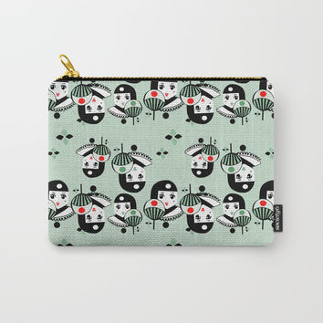 Art Deco Pierrette Japonais Carry-All Pouch by Christina Siravo