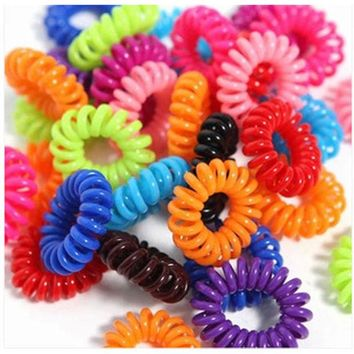 DCCKL3Z 30pcs/lo Hair Accessories Telephone Cord Phone Plastic Headband Strap Scrunchy Hair Band Hair Rope Hair Accessory Headband