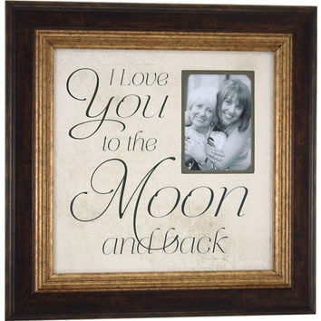 Mother of the Bride Wedding Frame, I LOVE YOU To The Moon And Back, Wedding Anniversary Gift, Parents Wedding Gift, 16X 16