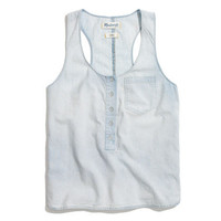 Chambray Pocket Tank - shirts & tops - Women's NEW ARRIVALS - Madewell