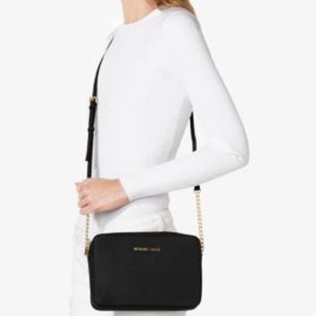 Jet Set Large Saffiano Leather Crossbody | Michael Kors