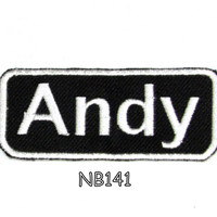 Andy Iron on Name Badge Patch for Motorcycle Biker Jacket and Vest NB141