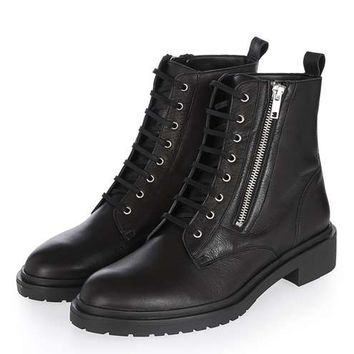 ASHTON Side Zip Ankle Boots - New Season - Clothing