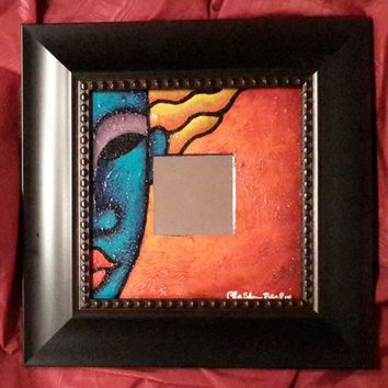 Hand Painted Mirror #166