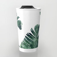 Banana Leaf Watercolor #society6 #buy #decor Travel Mug by 83 Oranges™