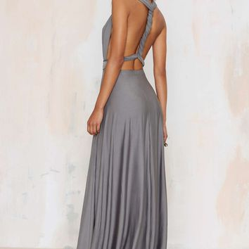 Lioness Voltage Multi Wear Maxi Dress - Gray