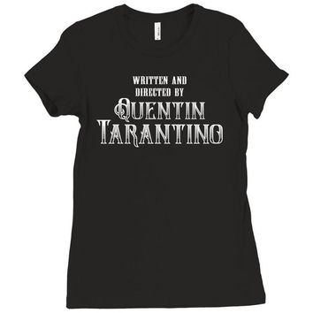 Written and Directed by Quentin Tarantino Ladies Fitted T-Shirt