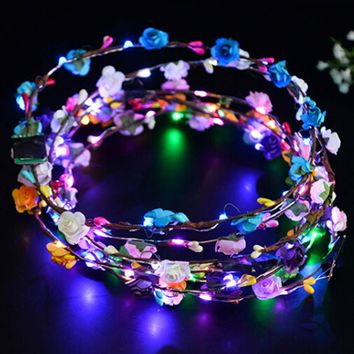 LED Light Up Flower Crown