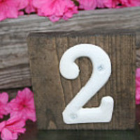 Wedding table numbers / party table numbers / assigned seating / rustic wedding decor