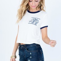 I Heart Elephants Crop Tee