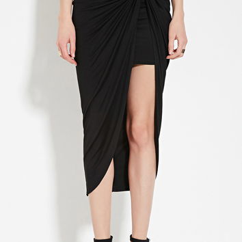 Contemporary Knotted Midi Skirt