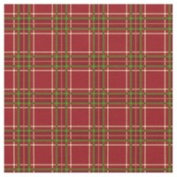 Crimson Green Tartan Plaid Pattern Fabric