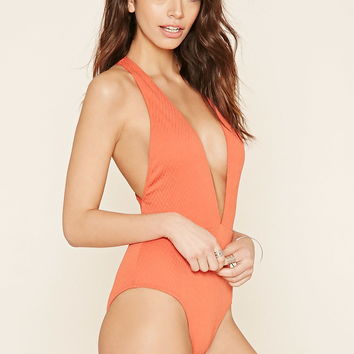 Zigzag Textured One-Piece