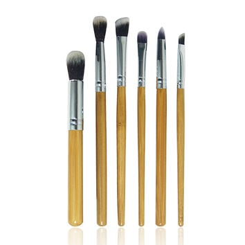 6PCS Professional Bamboo Makeup Brushes Set