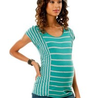 A Pea in the Pod: Short Sleeve Scoop Neck Wedge Maternity T Shirt