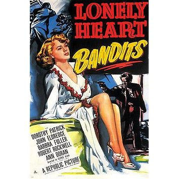 LONELY HEART BANDITS movie poster FILM NOIR patrick & eldredge SEXY 24X36