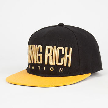 Yrn Gold Logo Ltd Mens Snapback Hat Black One Size For Men 27092110001