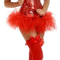 4 PC Pin-Up Sequin Devil Costume