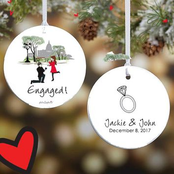Washington DC Engagement Ornament