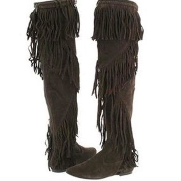 Sam Edelman Suede Uri Over The Knee Boots