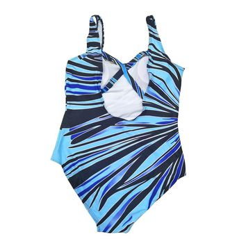 Camouflage Swimsuit Fused For Swimming Push Up Padded Swimsuit