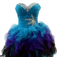 Azaria Style 5365 Light Blue Homecoming Dress
