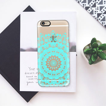 Bloom Pearl Teal Transparent iPhone iPhone 6s case by Heaven Seven | Casetify