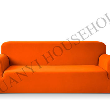 Drawing Room 3-Seat Sofa Covers Polyester Spandex Fabric Knit Eco-Friendly Anti-Mite Manta Sofa Slipcover Couch Cover 1Pcs
