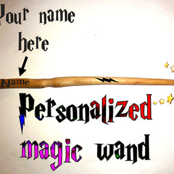 Magic Wand Custom Name Personalized. Magic wand. Name personalized magic wand. Harry Potter wand. Hermione Wand. Natural fairy wizard wand.