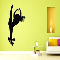 Wall Decals Vinyl Decal Sticker Living Room Interior Design Home Decor Dance Studio Dancer Woman Dancing Girl Flying Angel Kj733