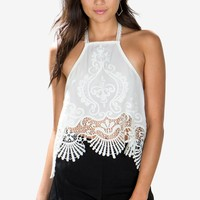 Lou Embroidered Halter