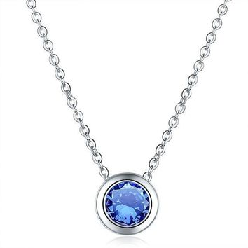 Police Support Round Crystal Necklace